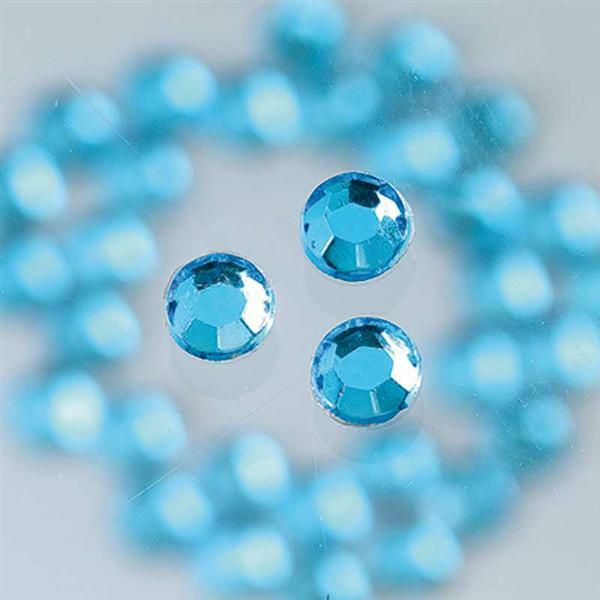 Strass stenen strijken - Ø 3 mm, 20 st., blauw - Textiel - zijde ...