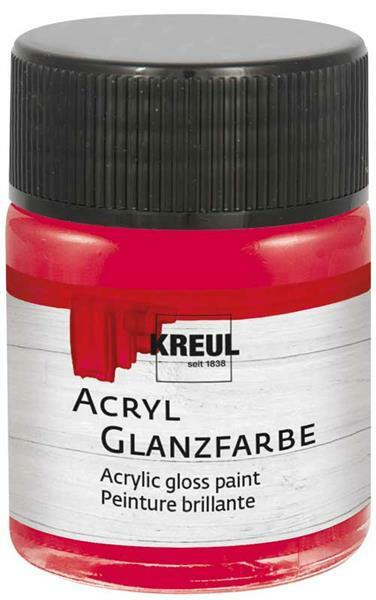 Acryl glansverf - 50 ml, donkerrood