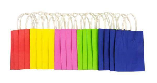 De Papieren Zak : Papieren zakken gekleurd stuks s online kopen aduis