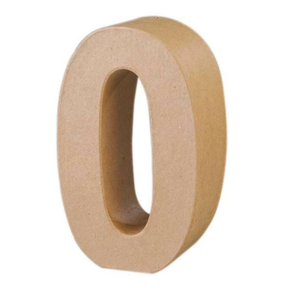 Papier mach cijfer 0 papier en karton papier mach - Grosse lettre en bois a peindre ...