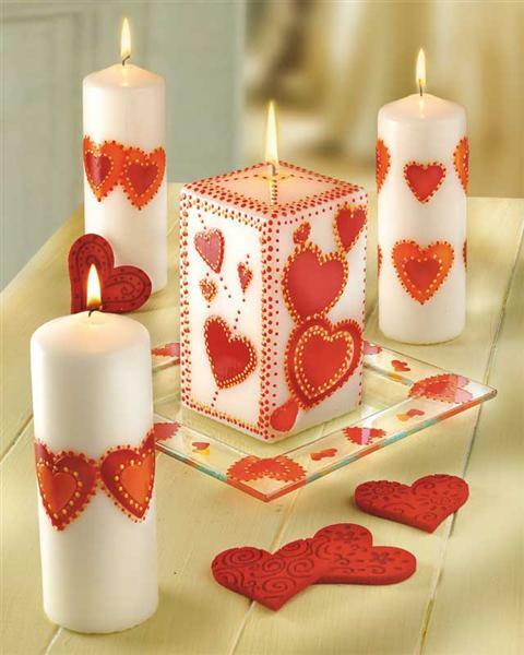 Versierwasplaat rood creatieve vormgeving kaarsen kaarsen versieren versierwasplaten 20 - Comment fabriquer des bougies parfumees ...