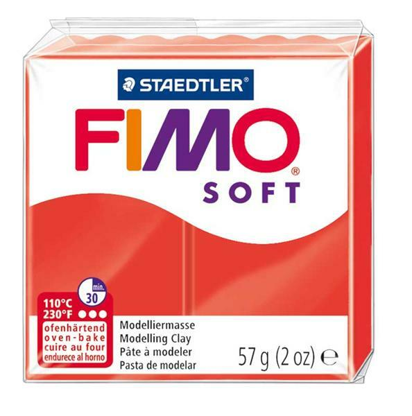 Fimo Soft - 57 g, Indisch rood
