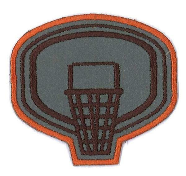 Applicatie reflecterend - basketbal, ca. 6 cm