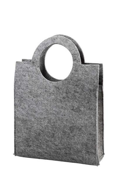 New Vilten tas - 28 x 40 x 9,5 cm, dikte 3 mm, grijs online kopen | Aduis &EQ81