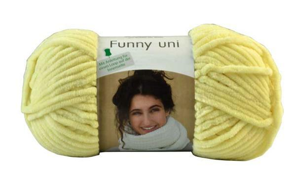 Wolle Funny color - 100 g, pastelgeel