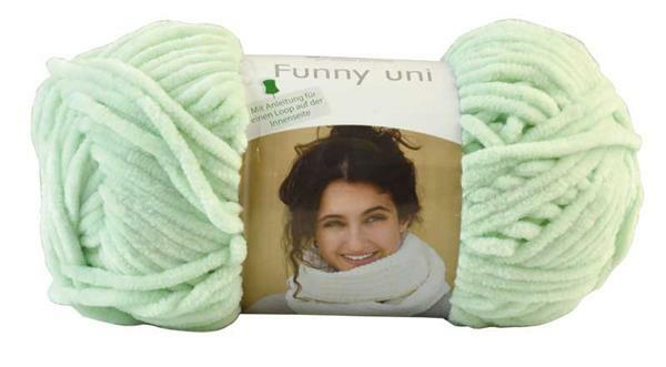 Wolle Funny color - 100 g, pastelgroen