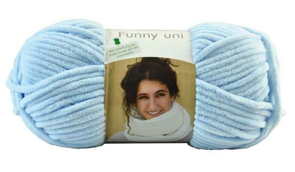 Wolle Funny color - 100 g, pastelblauw
