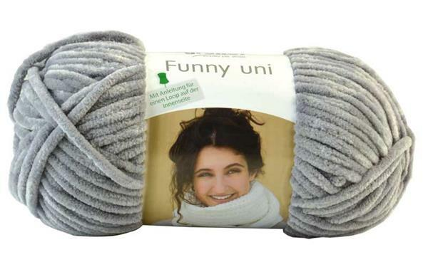 Wolle Funny color - 100 g, grijs