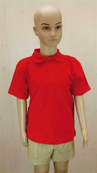 Poloshirt voor kind - rood, L