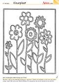 bloemenzee werkbladen kleurplaten